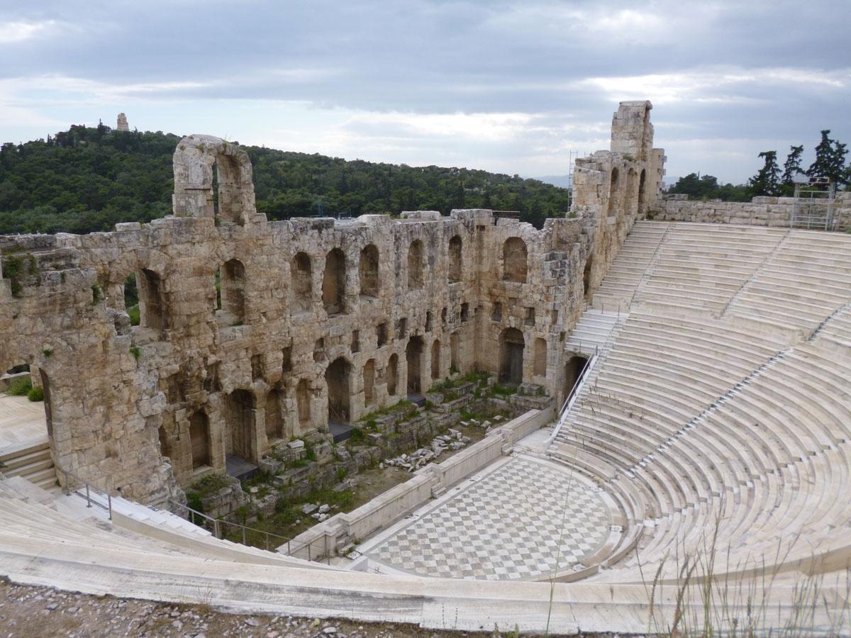cosa vedere ad atene teatro erode acropoli